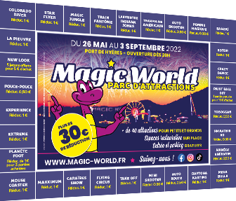 Bon de réduction Magic world à imprimer